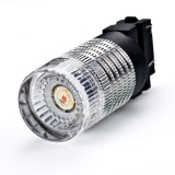 3157-x3W: 3157 LED Bulb - Dual Intensity 1 x 3 Watt High Power LED w/ Reflector Lens